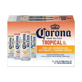 Corona Hard Seltzer Variety Pack Gluten Free Spiked Sparkling Water (12 fl. oz. can, 12 pk.)