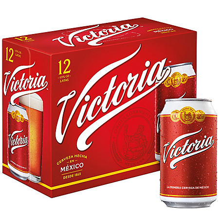 Victoria Mexican Lager Beer (12 oz. can, 12 pk.)