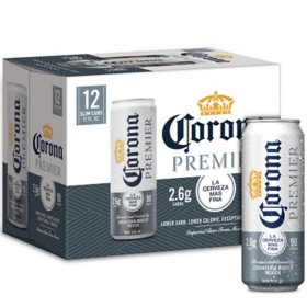 Corona Premier Mexican Lager Light Beer (12 fl. oz. can, 12 pk.)