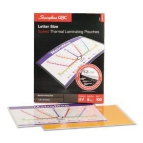 Swingline GBC - Fusion EZUse Premium Laminating Pouches, 5 mil, 11 1/2 x 9 -  100/Box