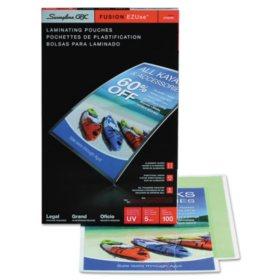 Swingline GBC - Fusion EZUse Premium Laminating Pouches, 5 mil, 9 x 14 1/2 -  100/Box