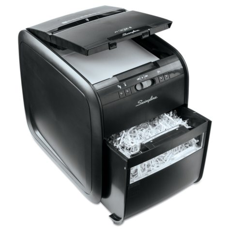 Swingline - Stack-and-Shred 80X Hands Free Shredder, Cross-Cut, 80 Sheets -  1 User