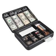 "FireKing - Hercules Cash Box, Keylock, Coin and Cash, 11 7/8"" x 9 1/2"" x 3 3/4"" -  Silver"