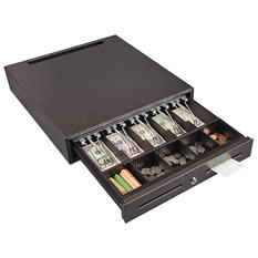 FireKing - Hercules Cash Drawer, Two Keys, 16 1/2 x 18 -  Silver Vein