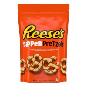 REESE'S Peanut Butter Candy Milk Chocolate Dipped Pretzels, Unwrapped, Bag (24 oz.)