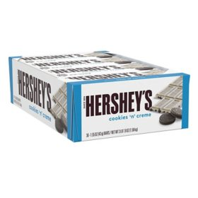 HERSHEY'S COOKIES 'N' CREME Candy (1.55 oz. bars, 36 pk.)