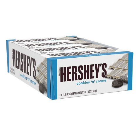 Hershey's Cookies 'n' Creme Candy Bars (1.55 oz., 36 ct.)