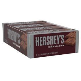 HERSHEY'S Milk Chocolate Candy, Bulk (1.55 oz. bars, 36 ct.)