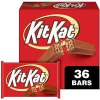 KIT KAT Milk Chocolate Wafer Candy Bars, Halloween, Bulk Box (1.5 oz., 36 ct.)