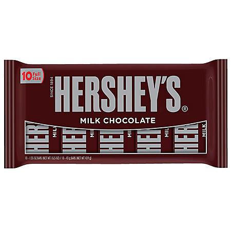 Hershey's Milk Chocolate Bar (10 ct.)