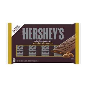 Hershey's Milk Chocolate with Almonds Candy Bars (14.5 oz., 10 ct.)