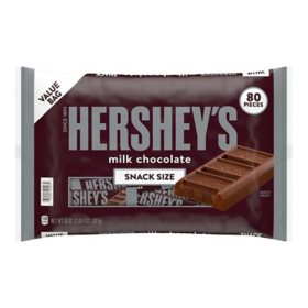 Hershey's Milk Chocolate Snack Size Bars (36 oz., 80 ct.)