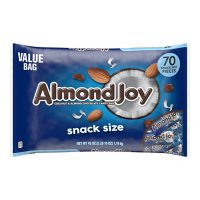 ALMOND JOY Coconut and Almond Chocolate Snack Size Candy Bars, Individually Wrapped, Value Bag (42 oz., 70 pc.)