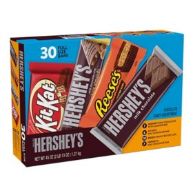 HERSHEY'S, KIT KAT and REESE'S Assorted Milk Chocolate Candy Variety Pack (45 oz., 30 ct.)
