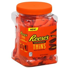 Reese's Thins, Milk Chocolate Peanut Butter Cups (24 oz.)