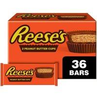 REESE'S Milk Chocolate Peanut Butter Cups Candy, Bulk Packs (1.5 oz., 36 ct.)
