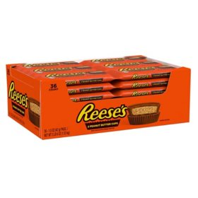 Reese's Peanut Butter Cups Chocolate Candy Bars, Bulk (1.5 oz., 36 ct.)