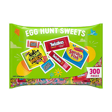Assorted Sour and Sweet Hard and Chewy Candy, Easter, Bulk Bag (94.9 oz., 300 pcs.)
