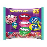 JOLLY RANCHER and TWIZZLERS Hard Candy, Lollipops, Twists and Pull n' Peel Assorted Fruit Flavored Candy, Bulk Candy, Bag (71.05 oz., 270 pc.)