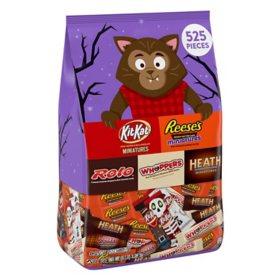 Hershey Chocolate Assortment Miniatures Halloween Candy Variety Bag (128 oz., 525 pc.)