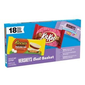 Hershey's Easter Best Basket Full Size Bars Box (21.9 oz., 18 ct.)