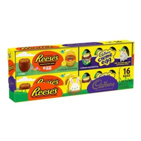 Reese's and Cadbury Milk Chocolate Eggs Candy, Easter Variety Pack (19.2 oz., 16 ct.)