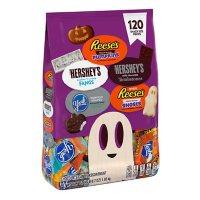 REESE'S, HERSHEY'S and YORK Chocolate and White Creme Halloween Assortment (64.7 oz., 120 pc.)