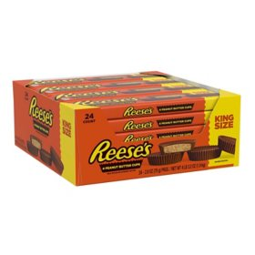 Reese's Peanut Butter Cups King Size Candy (2.8 oz., 24 ct.)