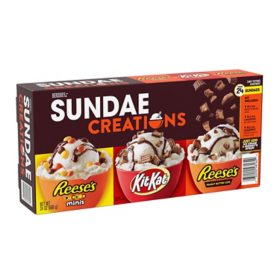 Hershey Chocolate Candy Assortment Sundae Creations, Ice Cream Toppings Box (24 oz.)