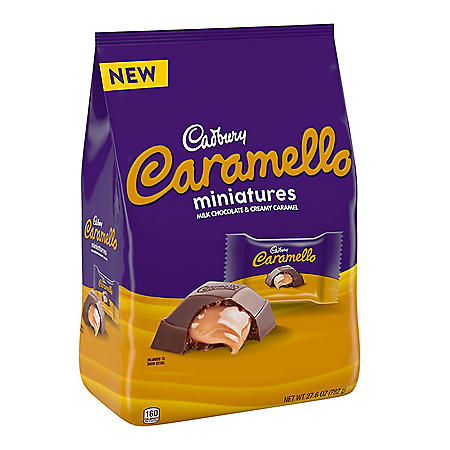 Cadbury Carmello Miniatures Milk Chocolate and Caramel Candy Bars (27.6 oz.)