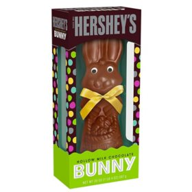 Hershey's Milk Chocolate Hollow Bunny Candy, Easter Gift Box (20 oz.)