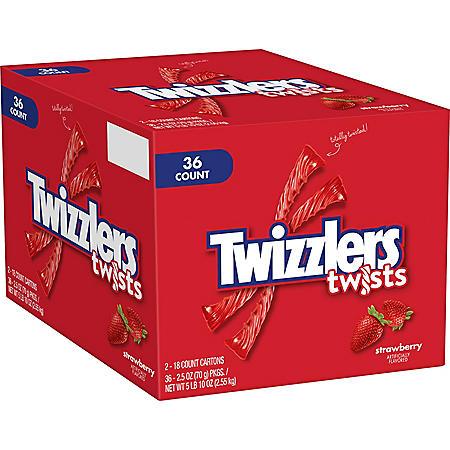 Twizzlers Strawberry Twists Candy (2.5oz / 36pk)
