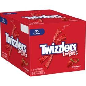 Twizzlers Strawberry Twists Candy (2.5 oz., 36 ct.)