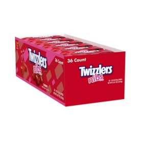 Twizzlers Nibs Cherry Candy (2.25 oz., 36 ct.)