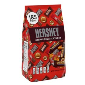 Hershey's Miniatures Assortment (3.44 lbs., 185 ct.)