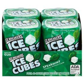Ice Breakers Ice Cubes Sugar Free Gum, Spearmint (40 ct., 4 pks.)