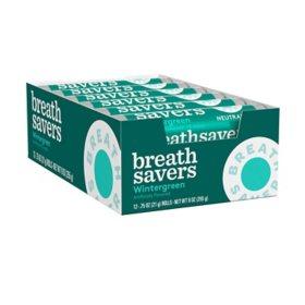 BREATH SAVERS Wintergreen Sugar-Free Breath Mints (0.75 oz. rolls, 24 ct.)