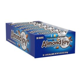 ALMOND JOY Coconut and Almond Chocolate Candy (1.61 oz. bars, 36 ct.)