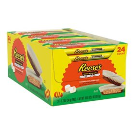 Reese's Easter Milk Chocolate & Peanut Butter Mallow Top Cups Box (12.8 oz., 24 ct.)