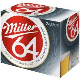 Miller 64 Light Beer (12 fl. oz. can, 30 pk.)
