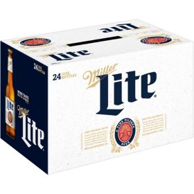 Miller Lite Lager Beer (12 fl. oz. bottle, 24 pk.)