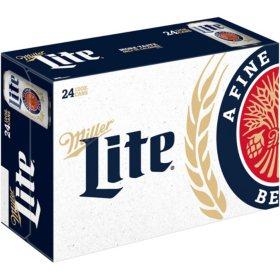 Miller Lite Lager Beer (12 fl. oz. can, 24 pk.)