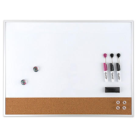 "Quartet Magnetic Combination Board Value Pack, Dry-Erase & Cork, 17"" x 23"""