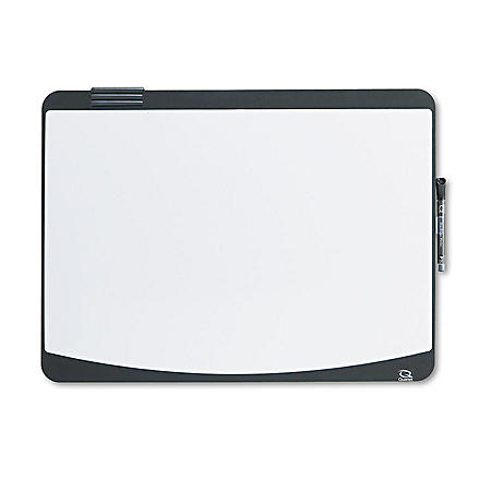 Quartet - Tack & Write Board, 23 1/2 x 17 1/2, Black/White Surface -  Black Frame