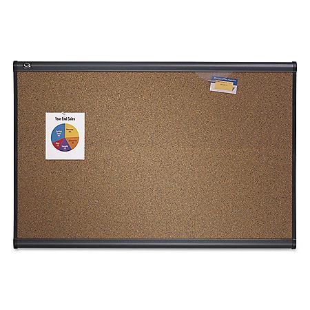 Quartet - Prestige Bulletin Board, Brown Graphite-Blend Surface, 72x48 -  Gry Aluminum Frame