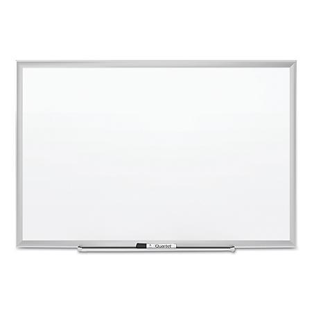 Quartet - Classic Series Porcelain Magnetic Board, 96 x 48, White -  Silver Aluminum Frame
