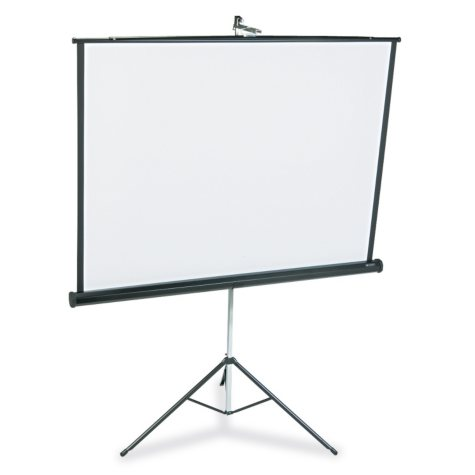 Quartet - Portable Tripod Projection Screen, 60 x 60, White Matte -  Black Steel Case