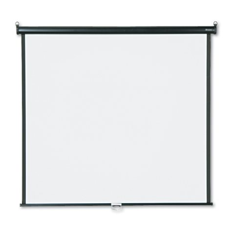Quartet - Wall or Ceiling Projection Screen, 60 x 60, White Matte -  Black Matte Casing
