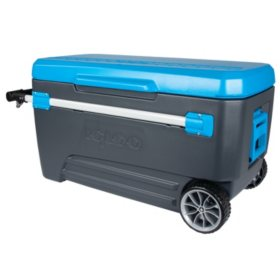Igloo Glide Roller Cooler, Blue (110 qt.)