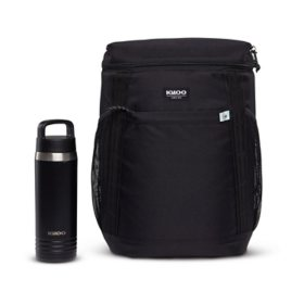 Igloo 36-Can Repreve Backpack with 24 oz. Stainless Steel Hydration Bottle